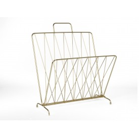 Present Time Magazine Rack Diamond Gold