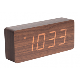 Present Time TUBE Alarm Dark Wood