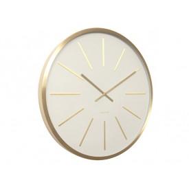 Karlsson Maximeus Brass Station Clock White