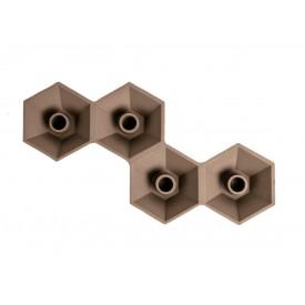 Present Time Nimble Hexagon Multi Hazel Brown