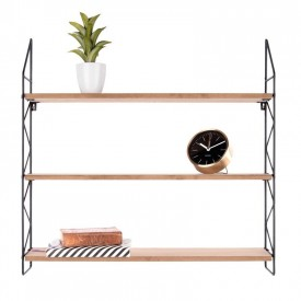 Present Time Zig Zag Shelve Black