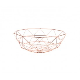 Present Time Diamond Basket Copper