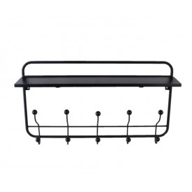 Present Time Coat Rack Black