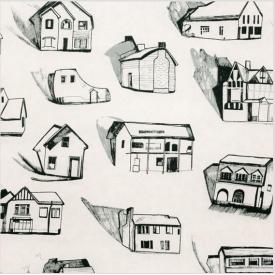 Erica Wakerly - Houses - Svart/kremað