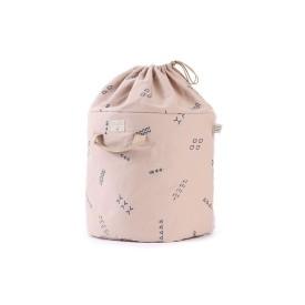 Bamboo Toy Bag Blue Secrets / Misty Pink
