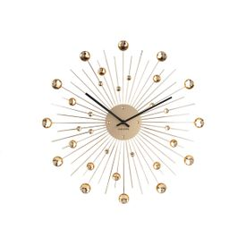 Present Time Sunburst Klukka Gyllt
