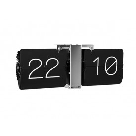 Present Time Flip Clock Black