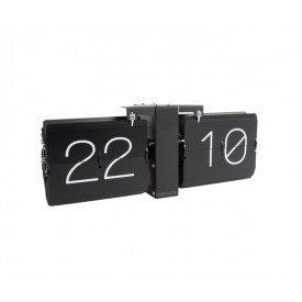 Present Time Flip Clock Black on Black