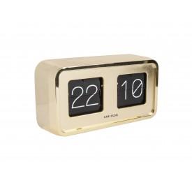 Karlsson Flip Clock Bold - Gyllt Hulstur