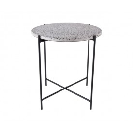 Present Time Side Table Terrazzo Black