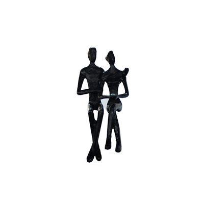 Speedtsberg - Stytta par sitjandi svart pottjárn 7x6x16cm