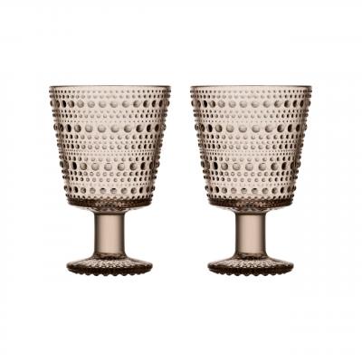 iittala - Kastehelmi (linen) glas á fæti