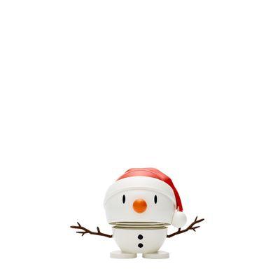 Hoptimist - White. Small Santa Snowman