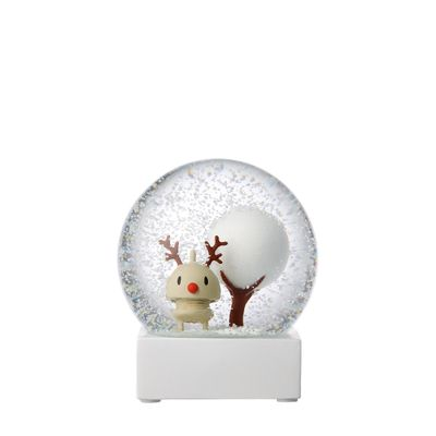 Hoptimist - Brown. Large Reindeer Snow Globe