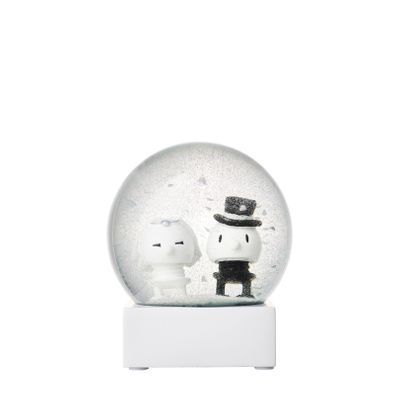 Hoptimist - White. Wedding Couple Glitter Globe