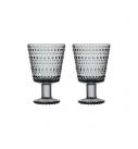 Thumb_iittala - Kastehelmi (grey) glas á fæti