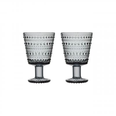 iittala - Kastehelmi (grey) glas á fæti