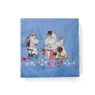 Moomin - Servíetta Birthday Blue