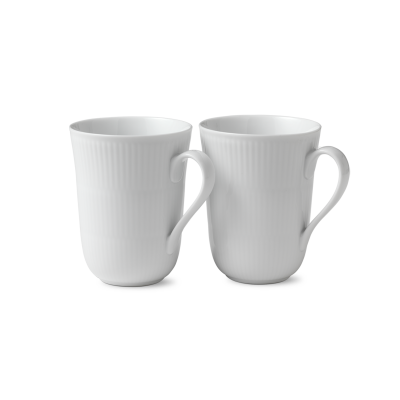 Royal Copenhagen - White plain mug 2stk
