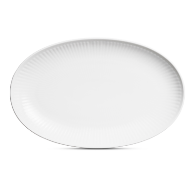 Royal Copenhagen - White plain fat 23cm