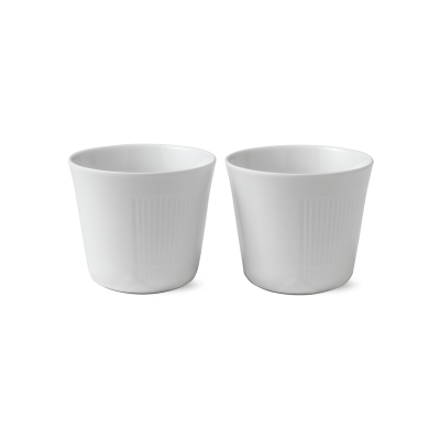 Royal Copenhagen  - White Elements tveir bollar 25 cl