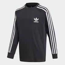Adidas - 3 stripes langerma bolur svartur