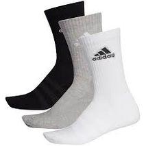 Adidas - Crew socks svartir, gráir og hvítir