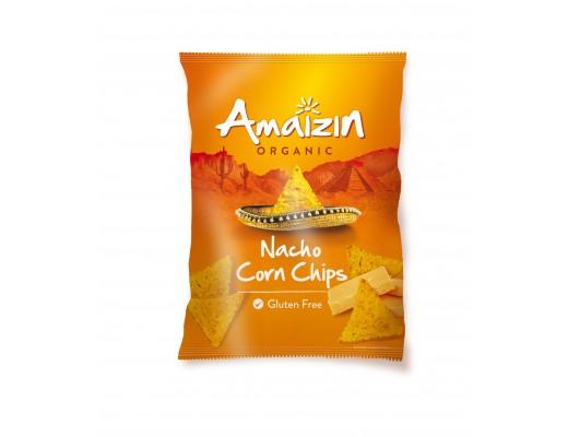 Amaizin Nacho cornchips ostabragð lífrænt 150 gr.