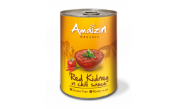 Amaizin Red kidney in chili lífrænt 400 gr.