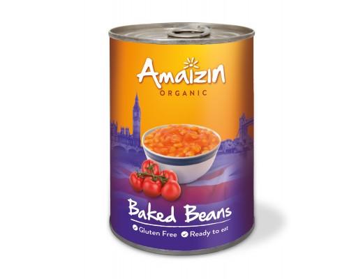 Amaizin Baked beans lífrænt 400 gr.