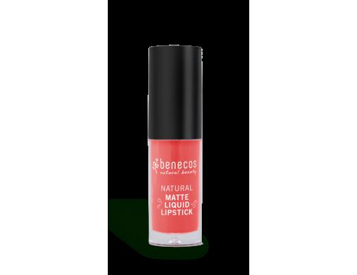Benecos Natural Matte liquid lipstick #coral kiss