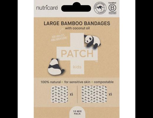 PATCH stór bambusplástur með kókosolía stórir 5 + 5 stk.
