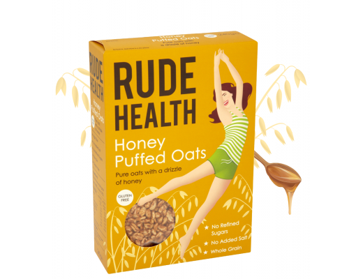 Rude Health Honey puffed oats 240 gr.