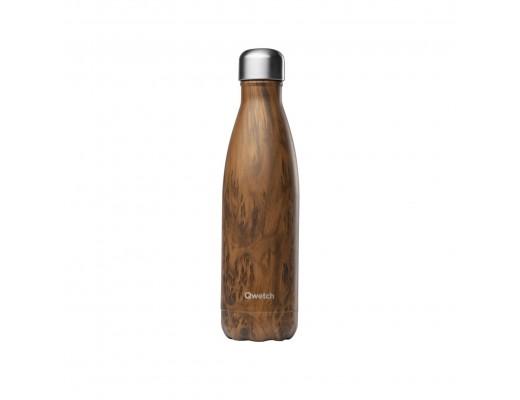 Qwetch drykkjarflaska 500 ml. #Viðaráferð - heitt/kalt