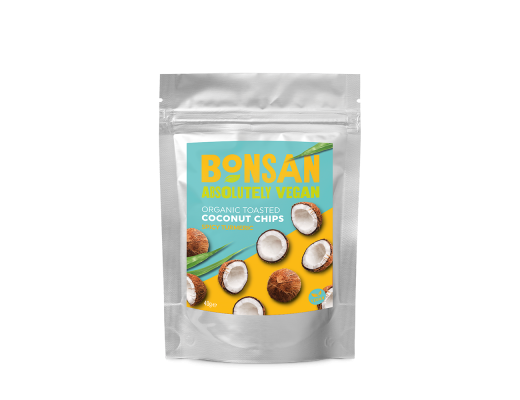 Bonsan Organic Spicy Turmeric Coconut Chips 40 gr.