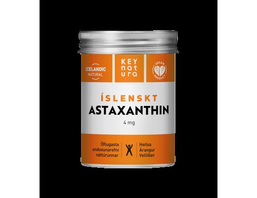 Keynatura Íslenskt Astaxanthin 4mg, 30 dagskammtar (60 töflur)