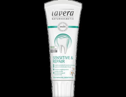 Lavera Sensetive & Repair tannkrem með flúor 75 ml.