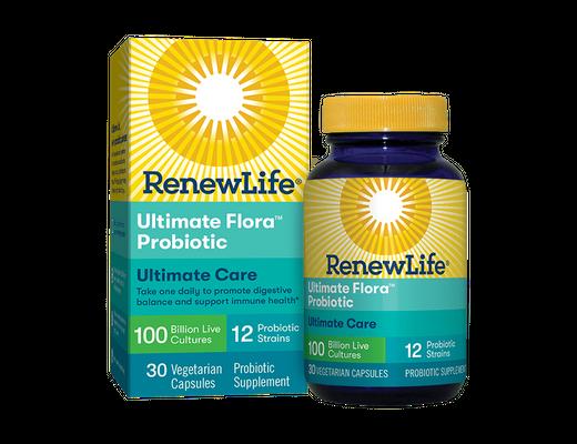 Renew Life Ultimate Flora Probiotics 100 billion 30 hylki