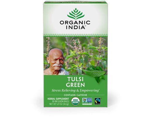 Organic India TULSI GREEN TEA 25 tepokar