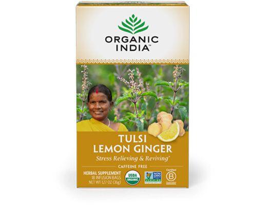 Organic India TULSI LEMON GINGER 25 tepokar