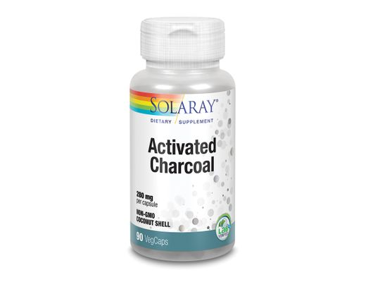 Solaray Activated Charcoal 280mg, 90 hylki