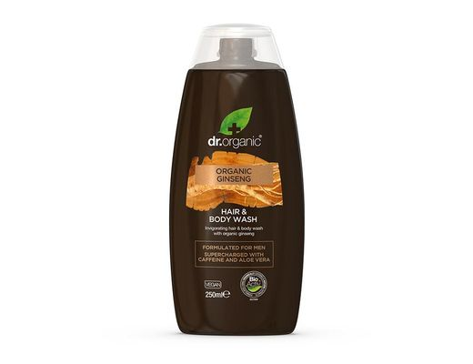 Dr. Organic MEN Ginseng hár-og sturtusápa 250 ml.