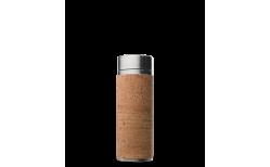Drykkjarflaska með tesíu stál/naturkorkur 300 ml.