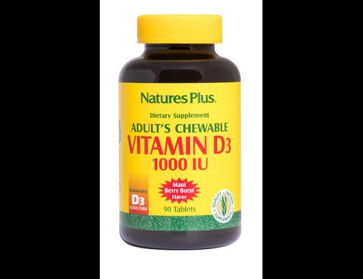 Natures D-3 vítamín munnsogstöflur 1000, 90 stk.