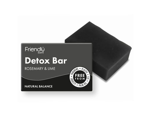 Friendly Charcoal Detox sápa fyrir andlit 95 gr.