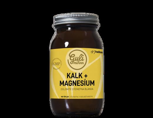 Guli miðinn Kalk og magnesium 180 töflur