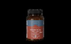 Terranova Vitamin D3 + K2 1000iu & 50ug, 50 hylki