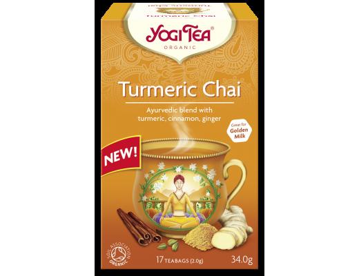 Yogi Turmeric Chai Teabags 17 pokar