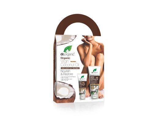 Dr. Organic Virgin Coconut Oil Hand & Body treatment gjafasett