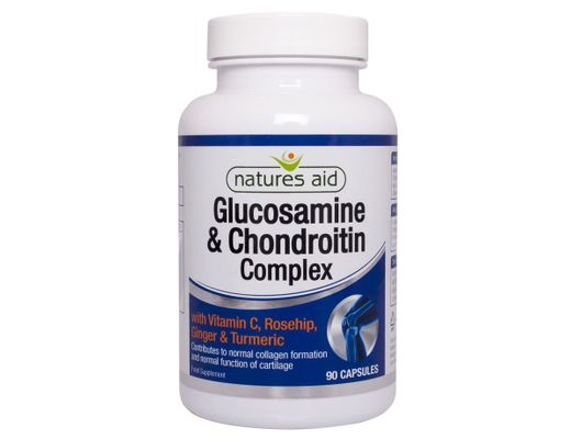 Natures Aid Glucosamine & Chondroitin Complex 90 hylki